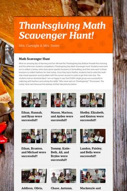 Thanksgiving Math Scavenger Hunt!
