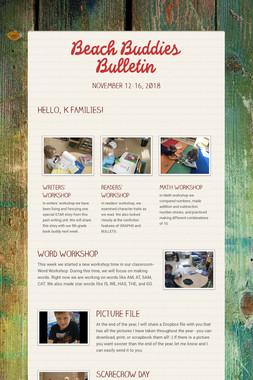 Beach Buddies Bulletin