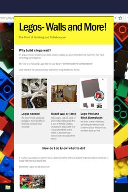Legos- Walls and More!