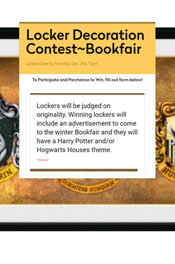 Locker Decoration Contest~Bookfair