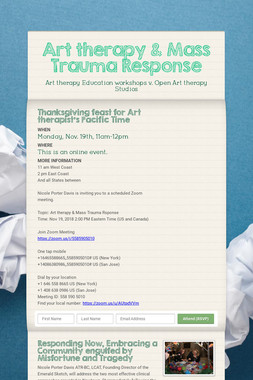 Art therapy & Mass Trauma Response