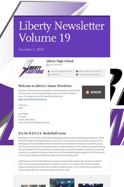 Liberty Newsletter Volume 19