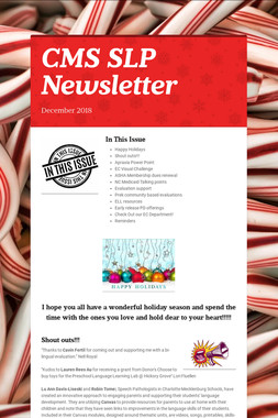 CMS SLP Newsletter