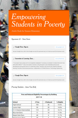 Empowering Students in Poverty