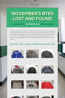 November's  BTES Lost and Found