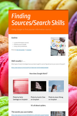 Finding Sources/Search Skills