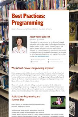 Best Practices: Programming