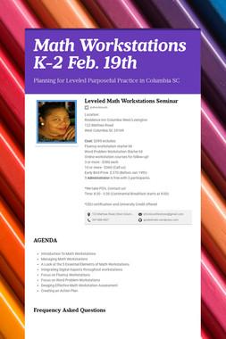 Math Workstations K-2  Feb. 19th
