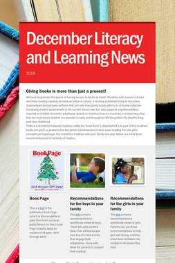 December Literacy and Learning News