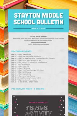 Stayton Middle School Bulletin