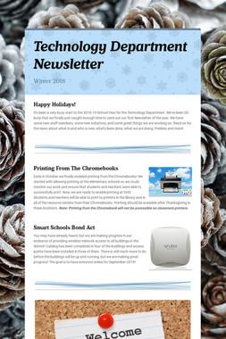 Technology Department Newsletter