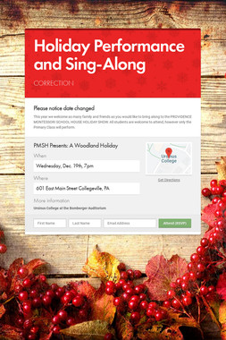 Holiday Performance and Sing-Along