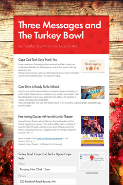 Three Messages and The Turkey Bowl