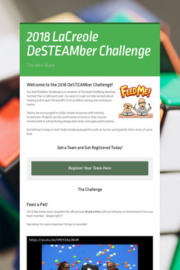 2018 LaCreole DeSTEAMber Challenge