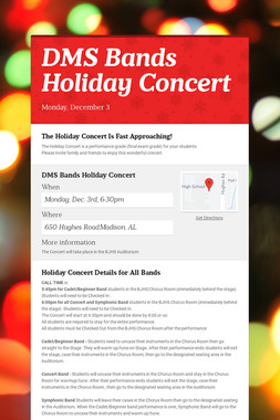 DMS Bands Holiday Concert