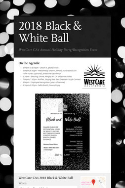2018 Black & White Ball