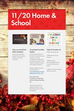 11/20 Home & School