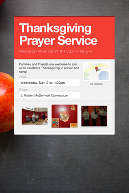 Thanksgiving Prayer Service