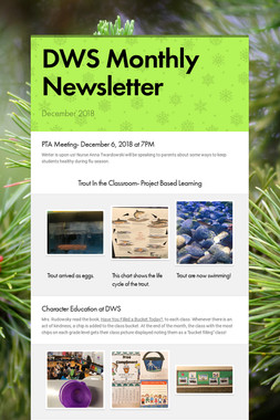 DWS Monthly Newsletter