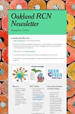 Oakland RCN Newsletter