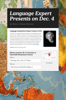 Language Expert Presents on Dec. 4