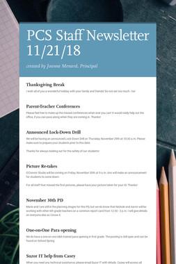 PCS Staff Newsletter 11/21/18