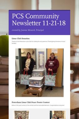 PCS Community Newsletter 11-21-18