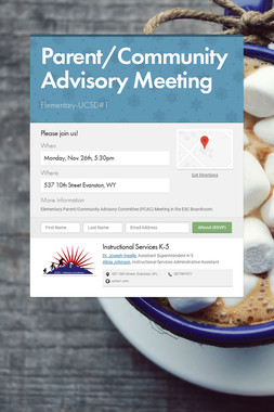 Parent/Community Advisory Meeting