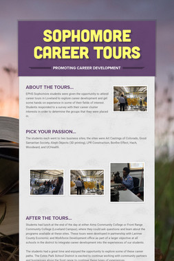 Sophomore Career Tours