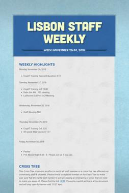 Lisbon Staff Weekly