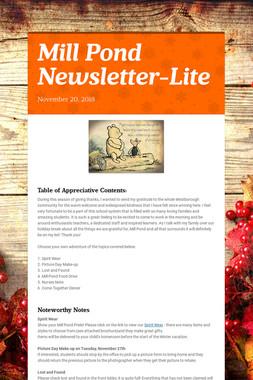 Mill Pond Newsletter-Lite