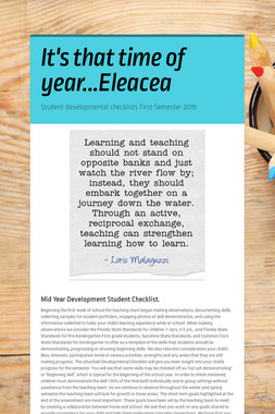 It's that time of year...Eleacea