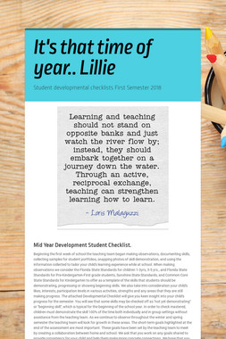 It's that time of year.. Lillie