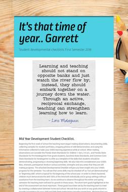 It's that time of year.. Garrett