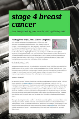 stage 4 breast cancer