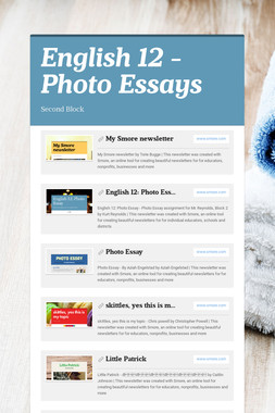 English 12 - Photo Essays