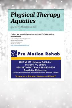 Physical Therapy Aquatics