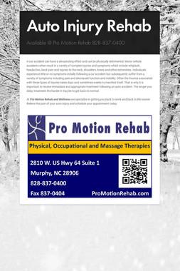Auto Injury Rehab