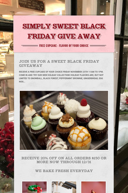 SIMPLY SWEET BLACK FRIDAY GIVE AWAY