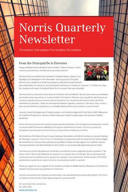 Norris Quarterly Newsletter