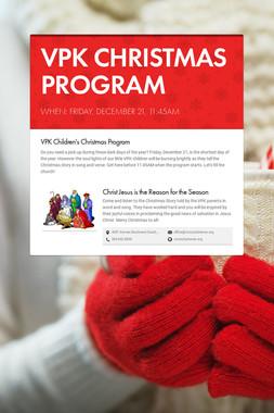 VPK CHRISTMAS PROGRAM