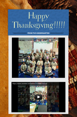Happy Thanksgiving!!!!!