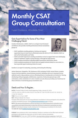 Monthly CSAT Group Consultation