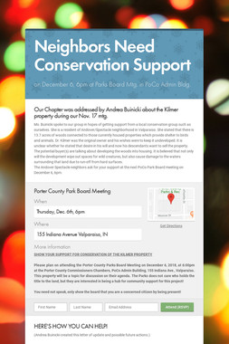 Neighbors Need Conservation Support