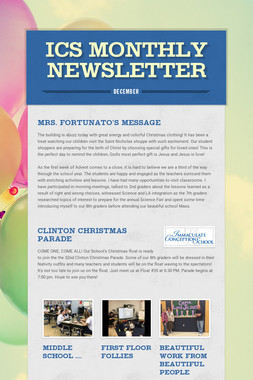 ICS Monthly Newsletter