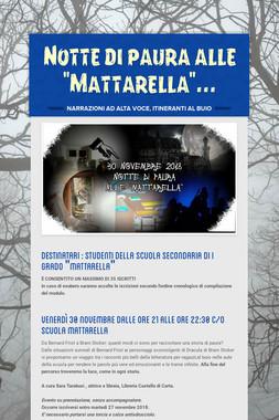 """Notte di paura alle """"Mattarella""""..."""