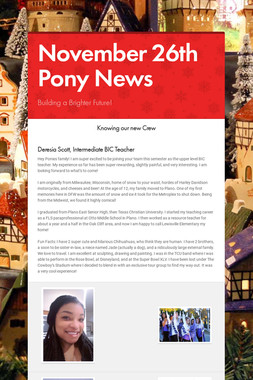 November 26th Pony News