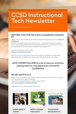 CCSD Instructional Tech Newsletter