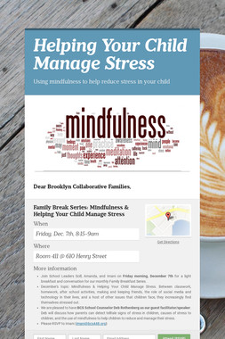 Helping Your Child Manage Stress