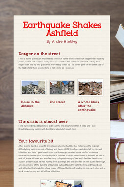 Earthquake Shakes Ashfield